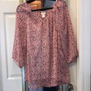 Two hearts maternity blouse